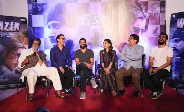 T 2101 -WAZIR press Conference .. must have been giving some humorous retorts .. every one other than me in laughter - Twitter@SrBachchan