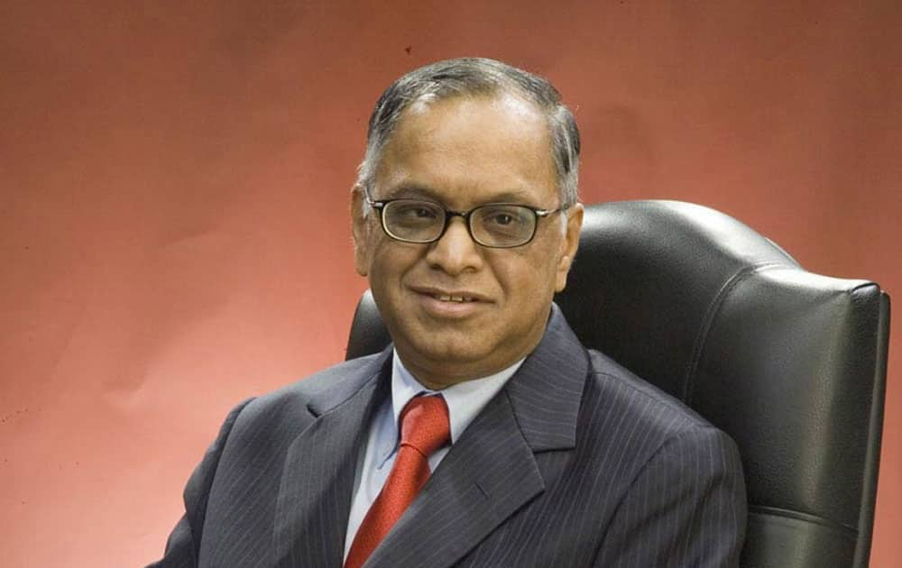 Narayana Murthy is at No.3 with donation of Rs 1,322 crore.