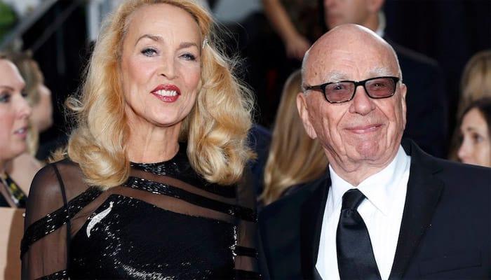 Rupert Murdoch engaged to model Jerry Hall