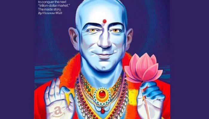 Fortune magazine shows Amazon CEO Jeff Bezos as Lord Vishnu; hurts religious sentiments of Hindus