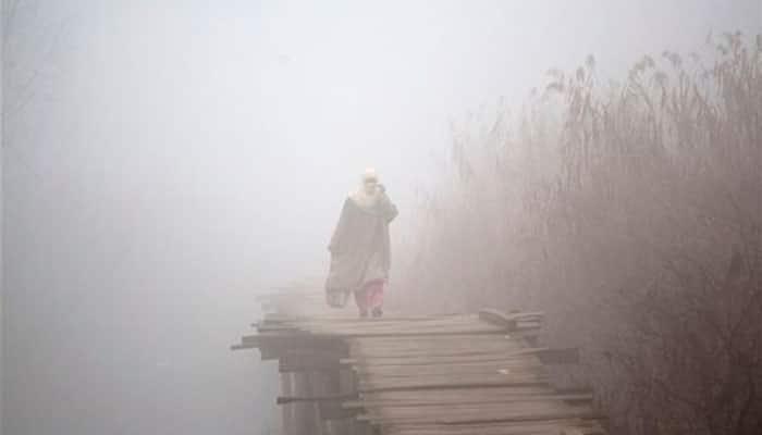 Dense fog, intense cold affects life in Kashmir