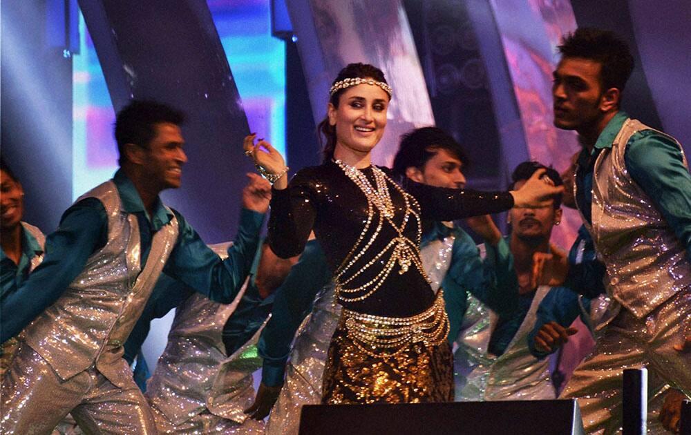 Bollywood actress Kareena Kapoor performs during Saifai Mohotsav.