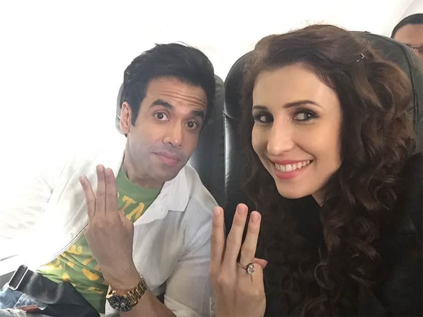 Off to Lucknow with @TusshKapoor for #KKHH3 promotion... Twitter@ClaudiaCiesla
