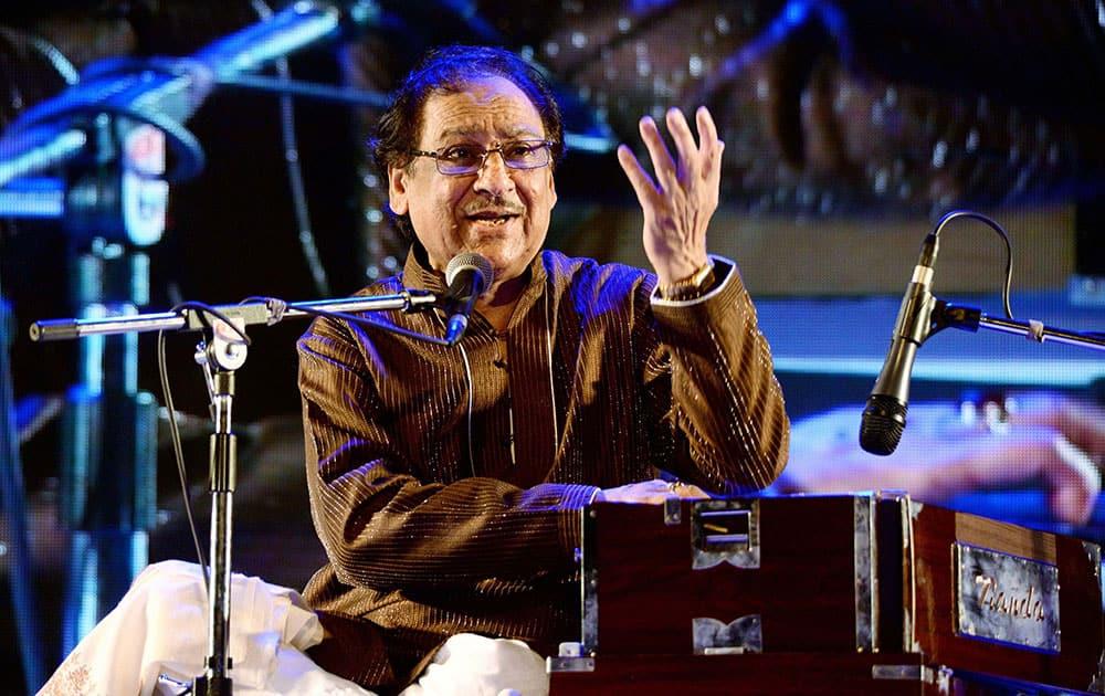 Ghazal Maestro Ghulam Ali performing in a program.