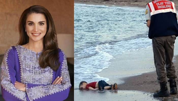 Jordan's queen hits back at Charlie Hebdo over cartoon of drowned Syria boy Aylan Kurdi