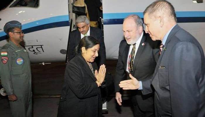 Sushma Swaraj to meet Israeli President  Reuven Rivlin, PM Benjamin Netanyahu today