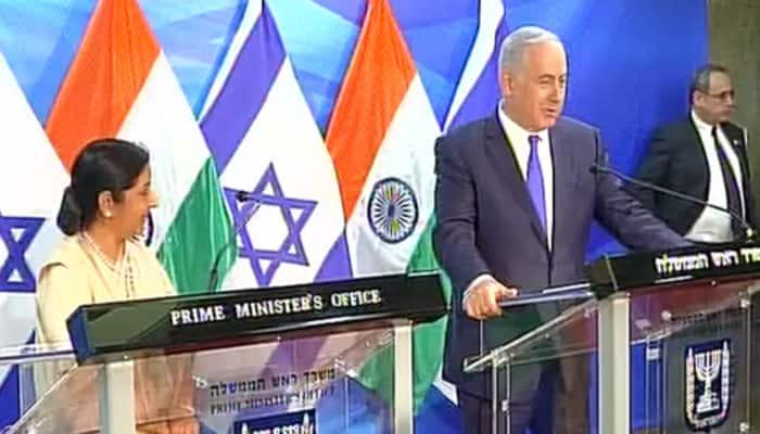 Sushma Swaraj meets Benjamin Netanyahu in Tel Aviv, says potential of India-Israel ties is 'much more'