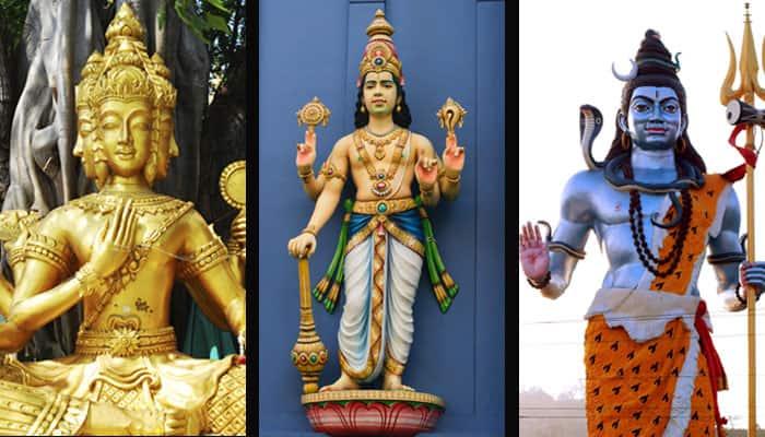 What does the Hindu trinity – Brahma, Vishnu and Shiva – signify?