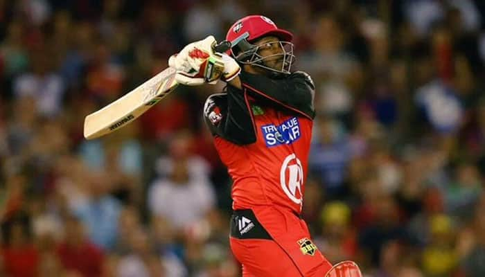 Chris Gayle equals Yuvraj Singh's record with 12-ball fifty in BBL