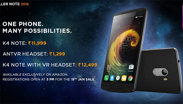 Lenovo K4 Note with VR bundle sale begins today