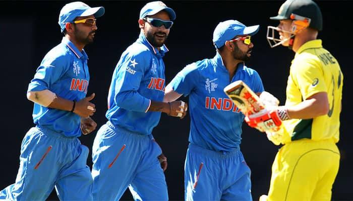 India vs Australia, 4th ODI: Field umpire John Ward officiates under helmet