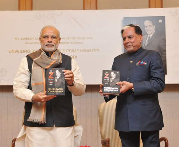 Released @_SubhashChandra ji's book, 'The Z Factor.' Spoke about his work for weaker sections of society. - Twitter@narendramodi