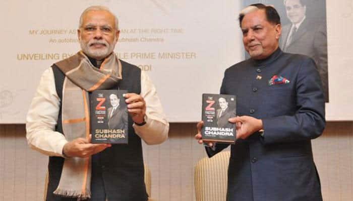 PM Narendra Modi launches Essel Group Chairman Dr Subhash Chandra's autobiography