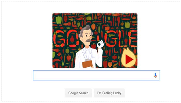 Google pays 'hot' tribute to mark Wilbur Scoville's 151st birth anniversary!