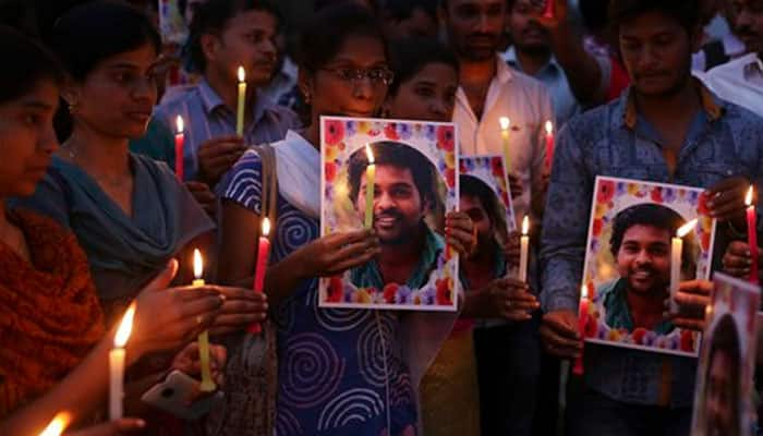 Why did Rohith Vemula strike off a paragraph in his suicide letter?