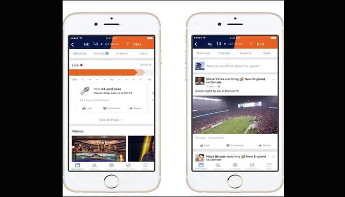 Now, enjoy sports in real time on Facebook