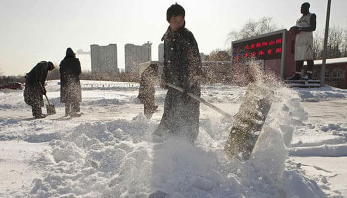 Worst cold front in decades hits China; orange alert issued