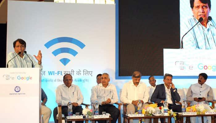 100 railway stations to get wi-fi in one year: Suresh Prabhu