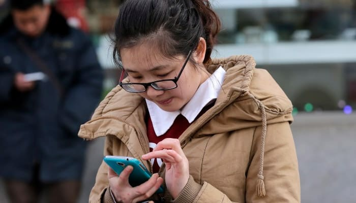 Half of China uses mobile phones to go online