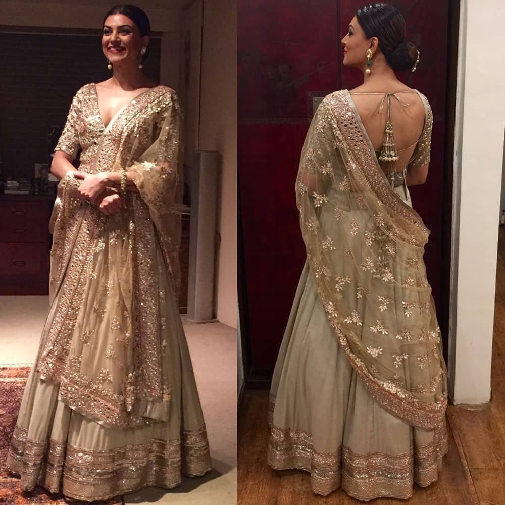 sushmita sen :-  @ManishMalhotra what a STUNNING outfit!!!❤ u make me look n feel like Royalty#compliments #thankyou ❤ -Twitter