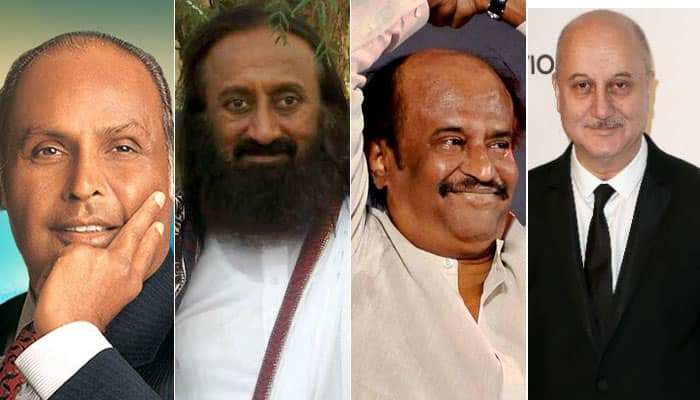 Dhirubhai Ambani, Shri Shri Ravi Shankar, Rajinikanth honoured with Padma Vibhushan; Anupam Kher, Vinod Rai to get Padma Bhushan