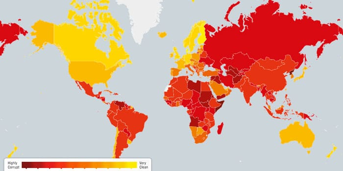 Must read: List of world's most and least corrupt countries