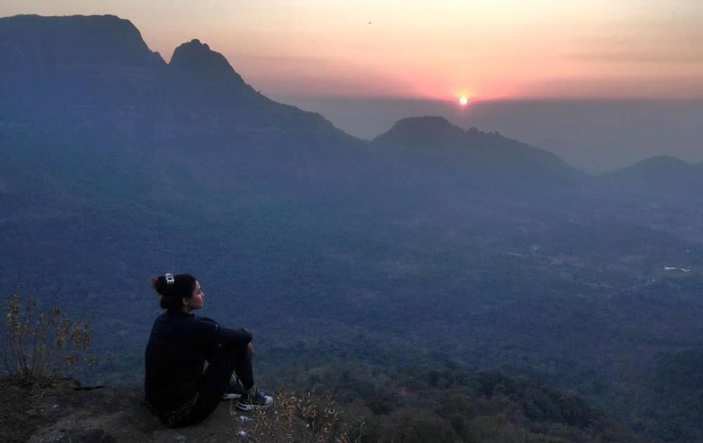 Daisy Shah :- The trek wasn't easy but the view was worth it! #aboutytday #naturegirlatheart @wardanadiadwala… -instagram