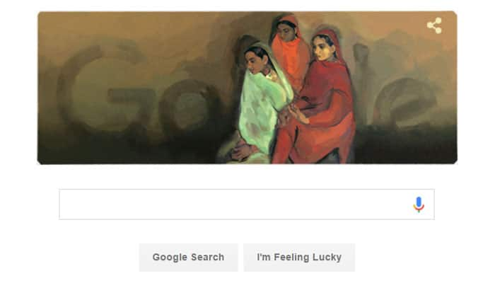 Amrita Sher-Gil's 103rd birthday: Google Doodle pays tribute to famous painter by 'Three Girls'