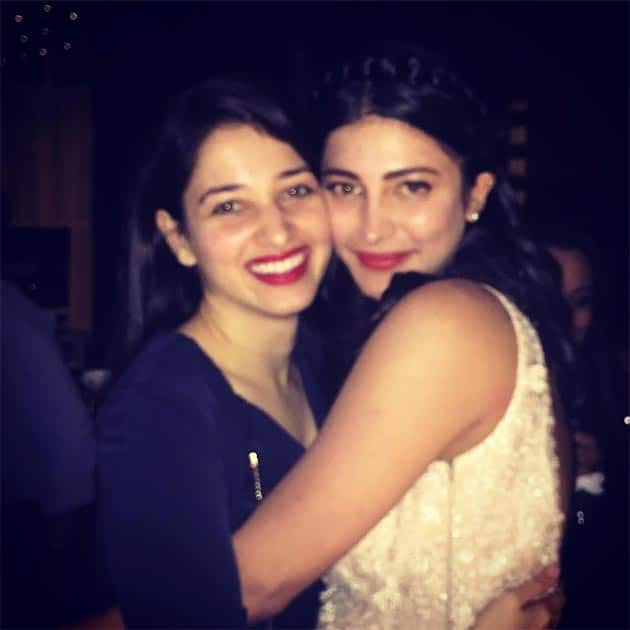 Happy birthday to the sweetest @shrutzhaasan an evening to remember. Instagram/tamannaahspeaks