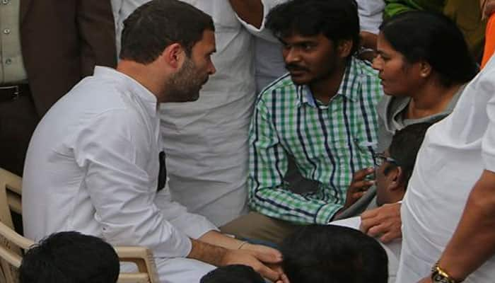 Rahul Gandhi joins hunger strike at Hyderabad University: As it happened