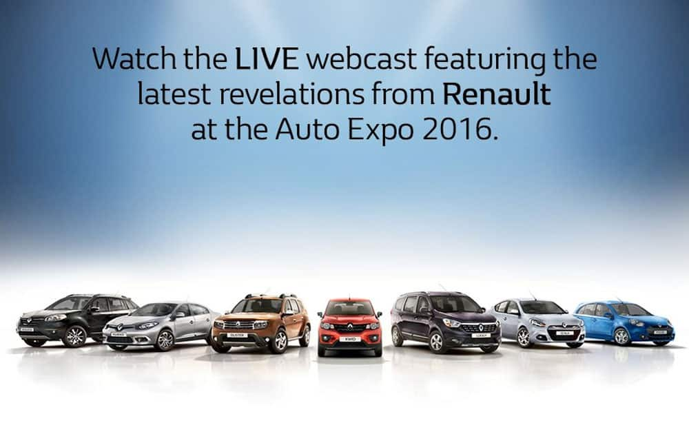 Watch all the excitement unfold at the #AutoExpo2016 LIVE in our exclusive webcast! Stay tuned to know more!  (sourced via twitter)