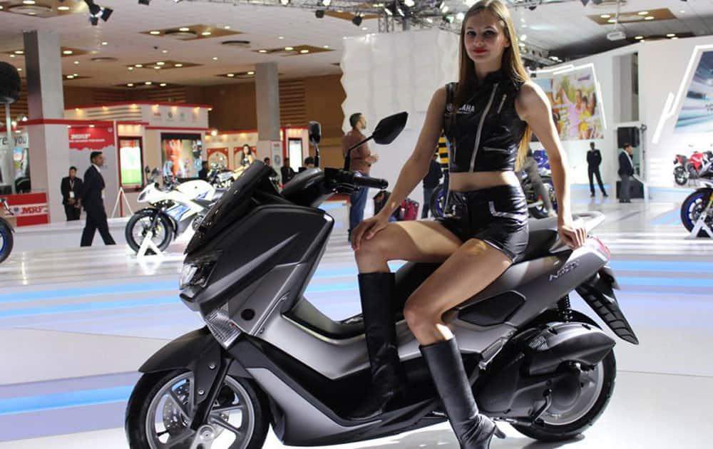 Yamaha Pavillion showcase at AutoExpo 2016.