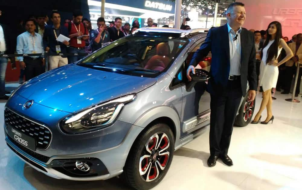 Fiat launches the Urban Cross at the Auto Expo 2016.