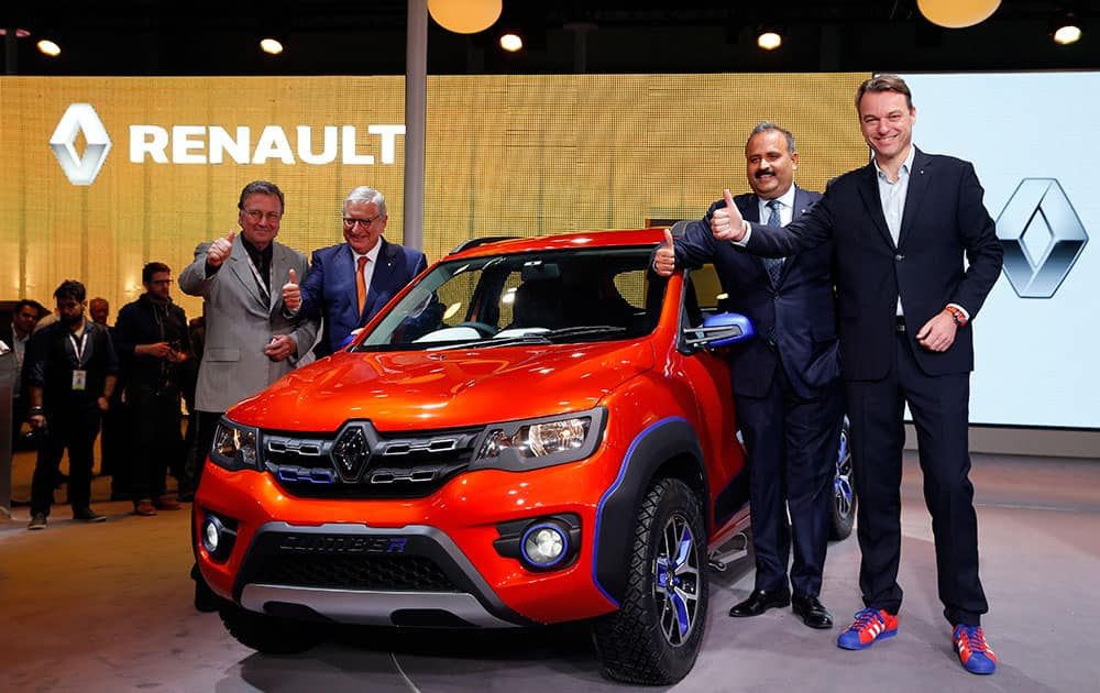 Renault's Climber is launched at the Auto Expo in Greater Noida.