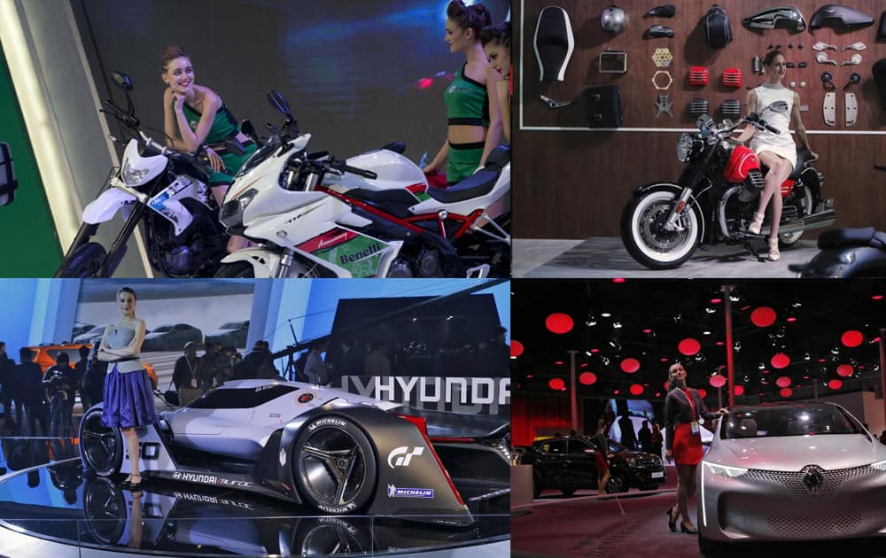 While super bikes and swanky cars garnered media attention at the Auto extravaganza, models posing with these vehicles added to the glamour quotient. Let's have a look at these glamorous models.