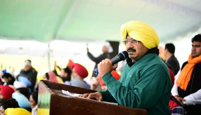 AAP poster showing Arvind Kejriwal with Bhindranwale sparks row in Punjab