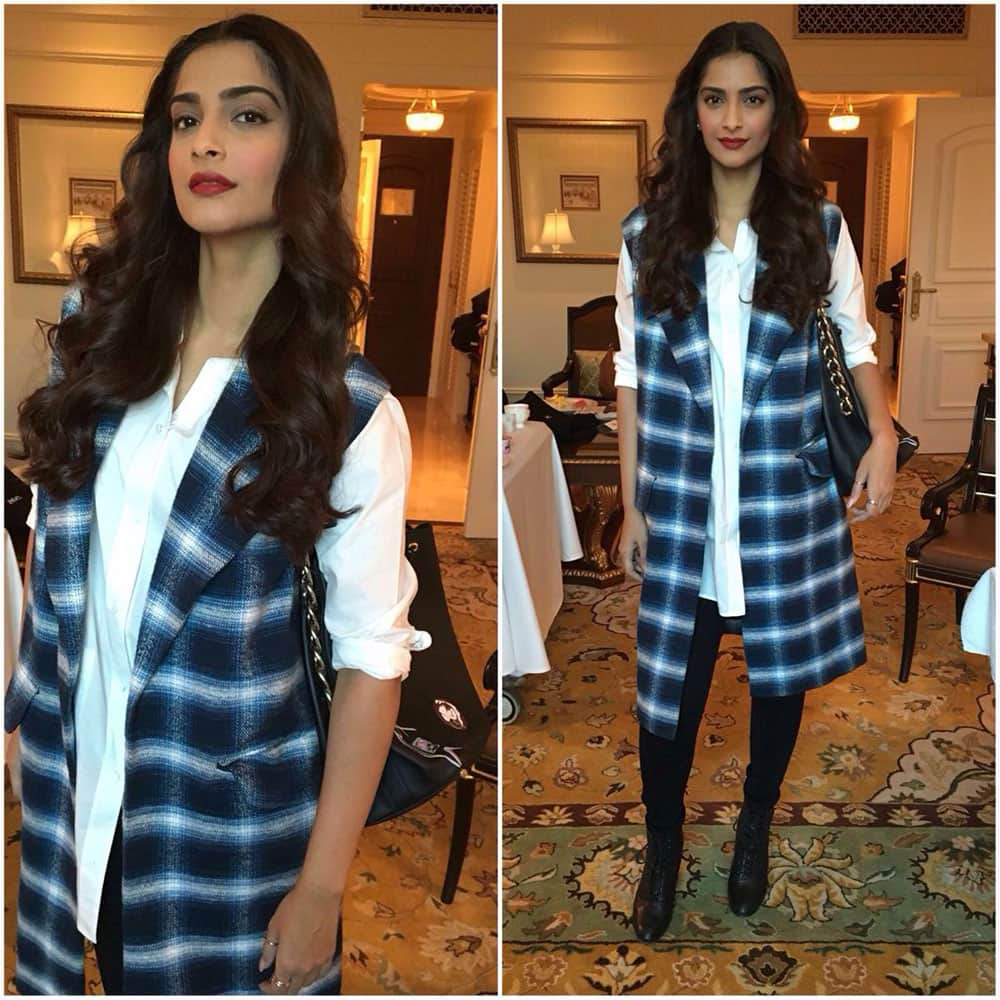 Sonam Kapoor :- Early morning : up and about ! Excited to have kicked off the Max Bupa Walkathon ! Get fit people ! #Neerja -twitter