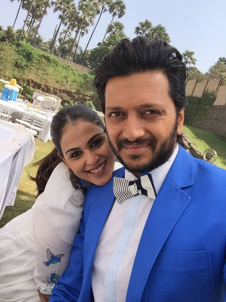 Riteish Deshmukh ‏:- With my Valentine - hope you guys are having a great day -#HappyValentinesDay  -twitter