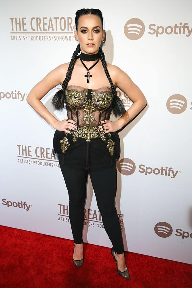 Katy Perry arrives at Spotify Presents The Creators Party at Cicada.
