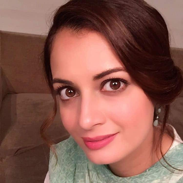Dia Mirza :- The fresh look. For the girl in love. #Glow #Happiness #BehindThescenes #SalaamMumbai -instagram