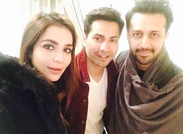 UK Squad @VarunUKSquad :- Varun Dhawan with Atif Aslam & Humaima Malick in Dubai -twitter