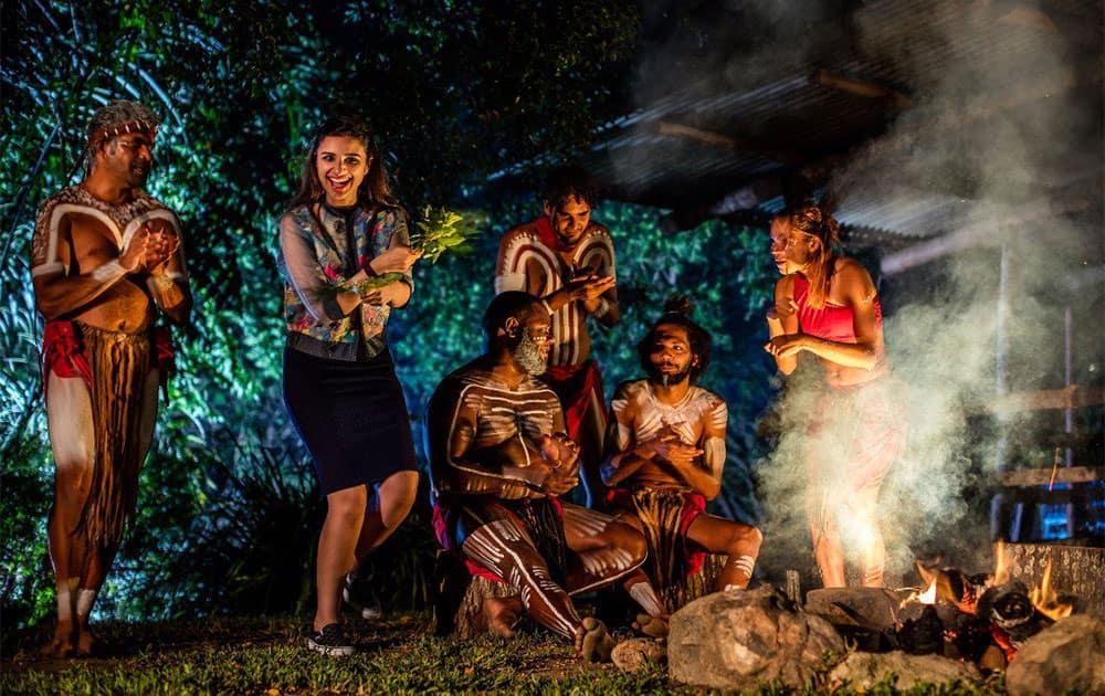 At @tjapukai_aust, mesmerized by the amazing live performance! @CairnsGBR  #exploreTNQ