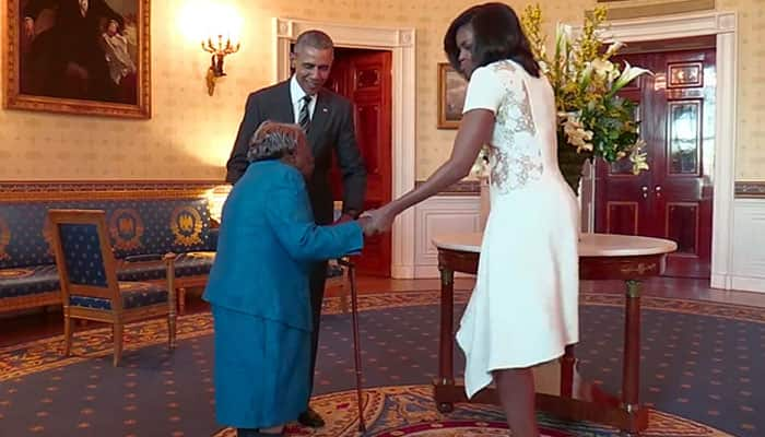 Watch: 106-year-old lady dances in joy as she meets Barack Obama, Michelle