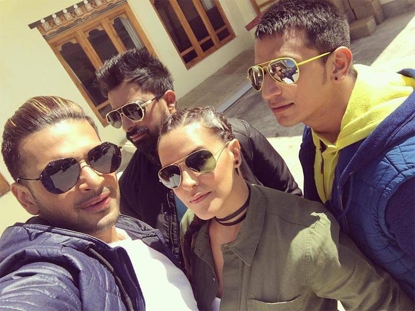 nehadhupiaAwesome foursome .... #roadiesx4 #punakha #bhutan. Instagram/nehadhupia