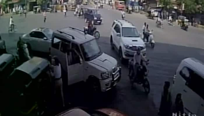 Woman cop allegedly beaten up by Shiv Sena leader – Watch