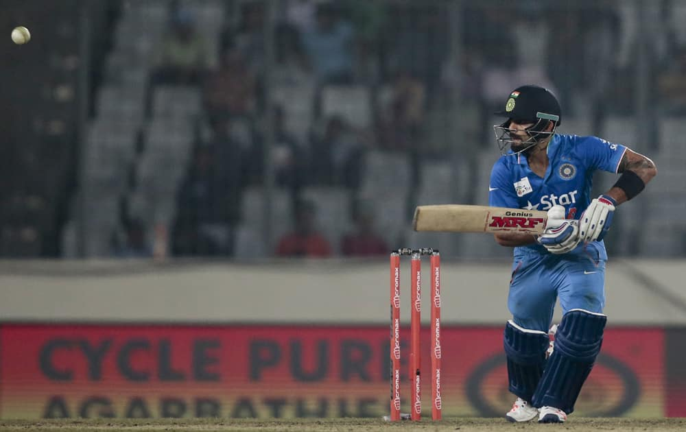 VIRAT KOHLI WAS ADJUDGED MAN-OF-THE-SERIES IN THE 2014 EDITION OF THE T20 WC HELD IN BANGLADESH. INDIA ENDED AS RUNNERS-UP.
