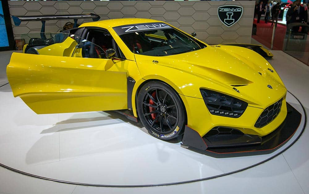 The new Zenvo TSR is presented during he second press day at the 86th International Motor Show in Geneva, Switzerland.