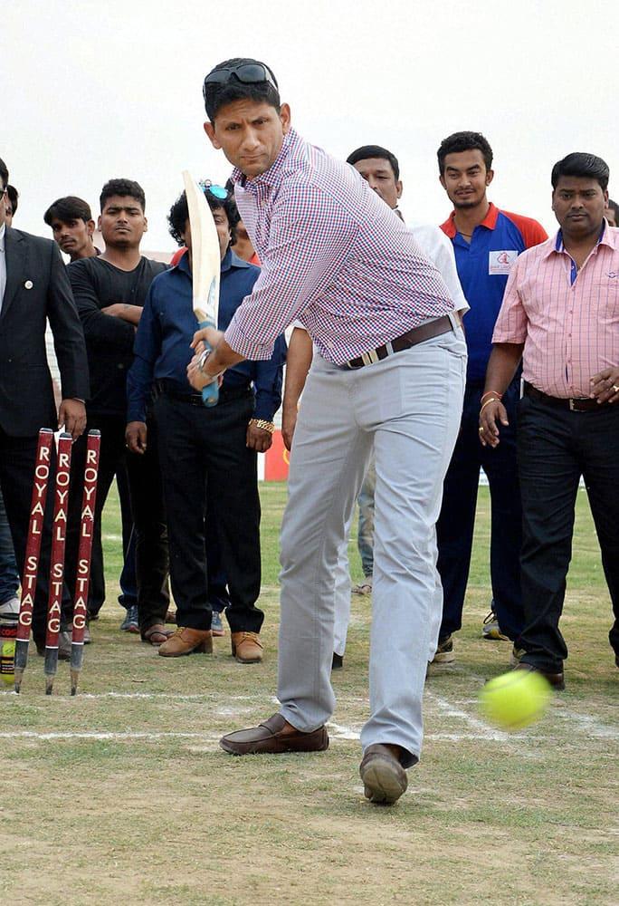 Former cricketer Venkatesh Prasad at an event in Patna.