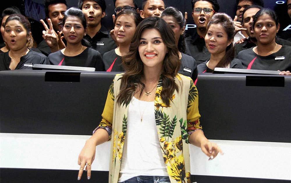 Bollywood actress Kriti Sanon at an event in Bengaluru.