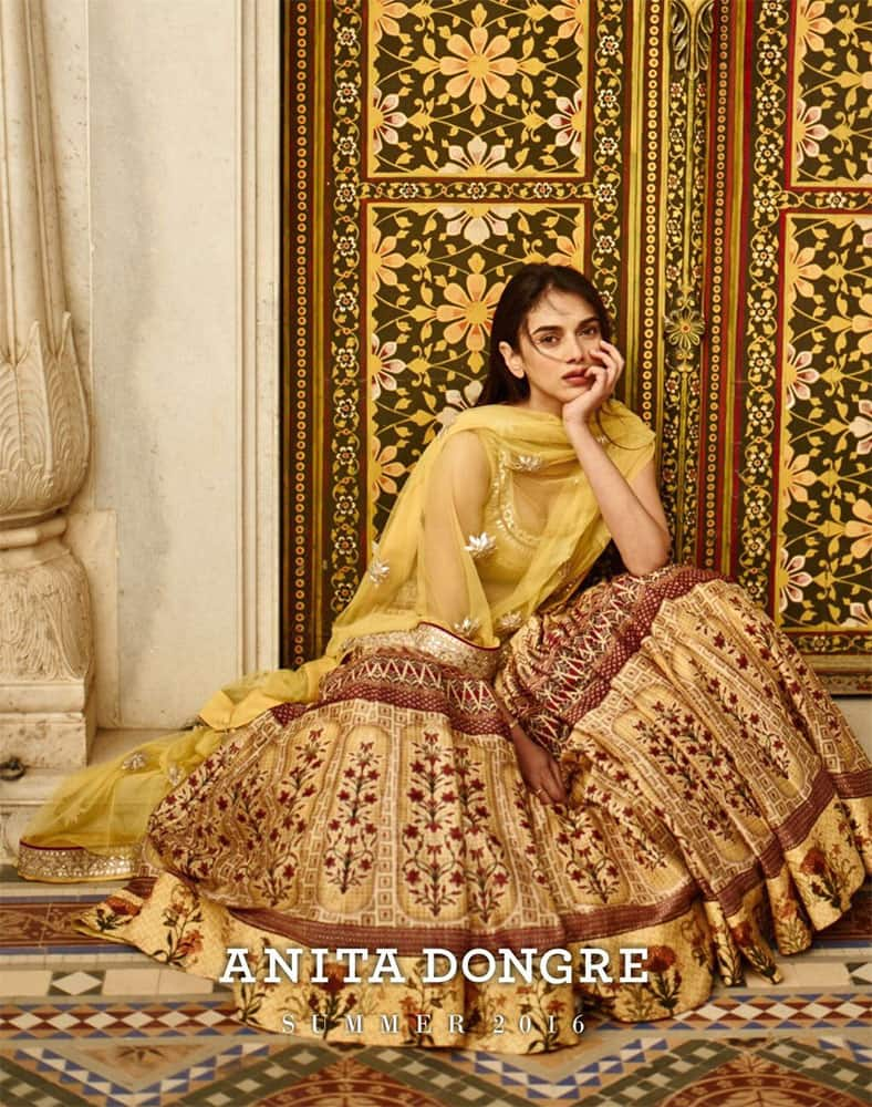 Aditi Rao Hydari :- Coming soon! #LoveNotes summer 2016 by @anitadongre.... Love is a state of mind.... #newcampaign  -twitter